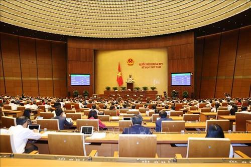 Chiều 25/12/2019, Quốc hội thông qua toàn văn Luật sửa đổi, bổ sung một số điều của Luật Nhập cảnh, xuất cảnh, quá cảnh, cư trú của người nước ngoài tại Việt Nam. Ảnh: Phương Hoa/TTXVN.